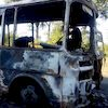 На Сумщині поліція з'ясовує причини та обставини загоряння автобусу, що перевозив дітей