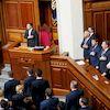 373 народні депутати - «ЗА», Андрій Деркач та «Опозиційна платформа за життя»- «НІ»